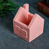 Кашпо домик, розовое, 7 х 7 х 8,5 см, фото 2