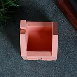Кашпо домик, розовое, 7 х 7 х 8,5 см, фото 3