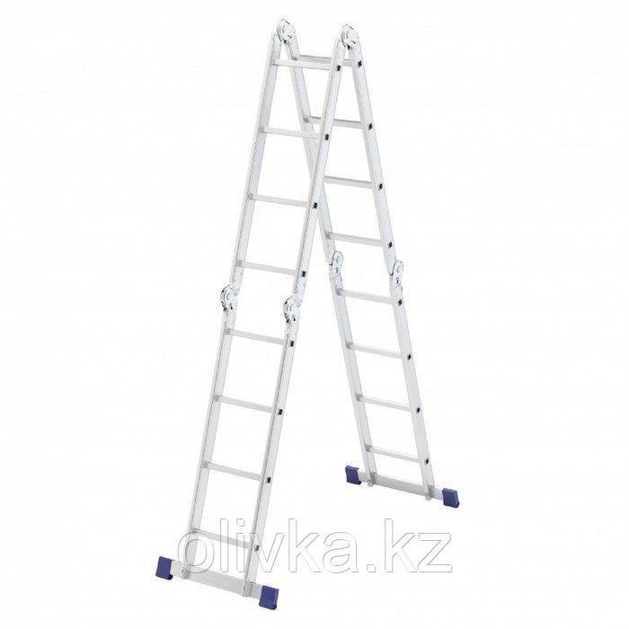 "Лестница шарнирная ""СИБРТЕХ"" 97882, алюминиевая, 4х4 ступени"