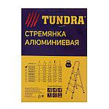 Стремянка TUNDRA, алюминиевая, 3 ступени, 600 мм, фото 4
