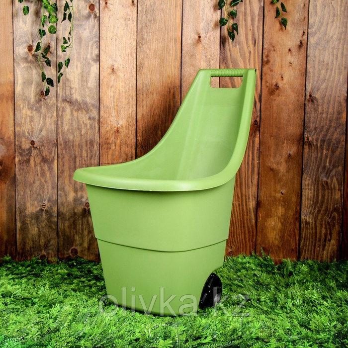 Тележка садовая Keter, двухколёсная, 50 л, пластик, цвет МИКС