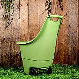 Тележка садовая Keter, двухколёсная, 50 л, пластик, цвет МИКС, фото 2