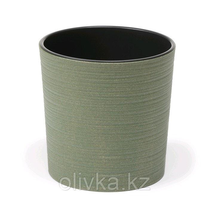 Пластиковый горшок с вкладкой «Мальва Эко Джуто», 19 см, цвет зелёный лес