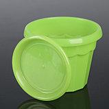 Горшок для цветов с поддоном Доляна «Эрика», 0,7 л, цвет зелёный, фото 2