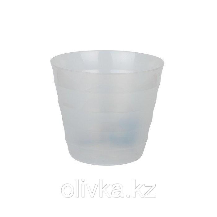 Пластиковый горшок с вкладкой «Лаура», цвет прозрачный