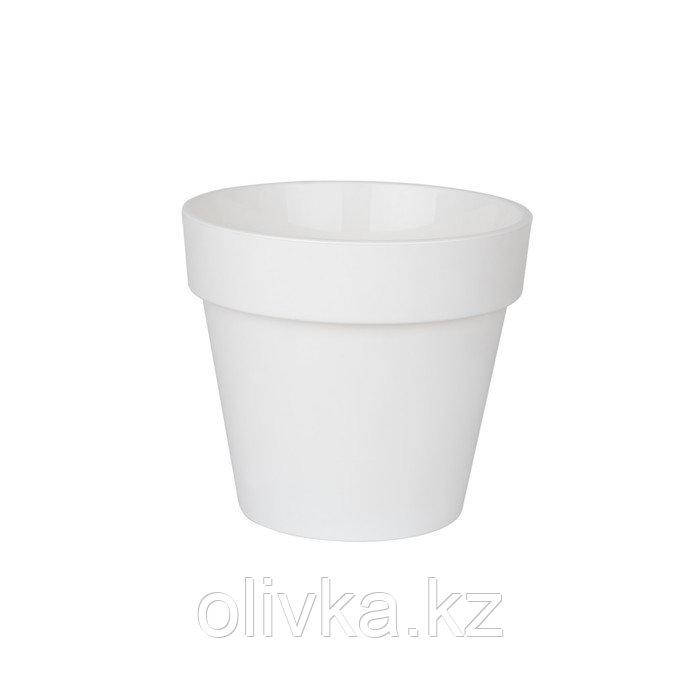 Пластиковый горшок с вкладкой «Протея», цвет белый