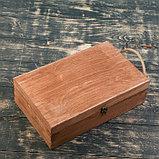 Подарочный ящик 34×21.5×10.5 см деревянный 3 отдела, с крышкой, светло-коричневый, фото 3