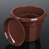 Горшок для цветов с поддоном Доляна «Эрика», 1,8 л, цвет коричневый, фото 2
