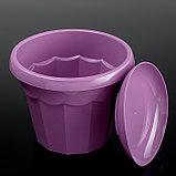 Горшок для цветов с поддоном Доляна «Эрика», 1,8 л, цвет фиолетовый, фото 2
