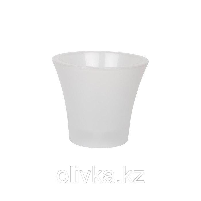 Пластиковый горшок с вкладкой «Сити», цвет белый