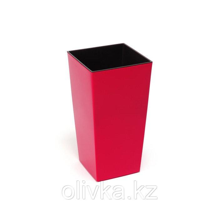 Пластиковый горшок с вкладышем «Финезия», цвет красный