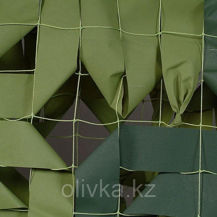 Маскировочная сеть «Стандарт», 3 × 3 м, на сетевой основе, светло-зелёный/тёмно-зелёный