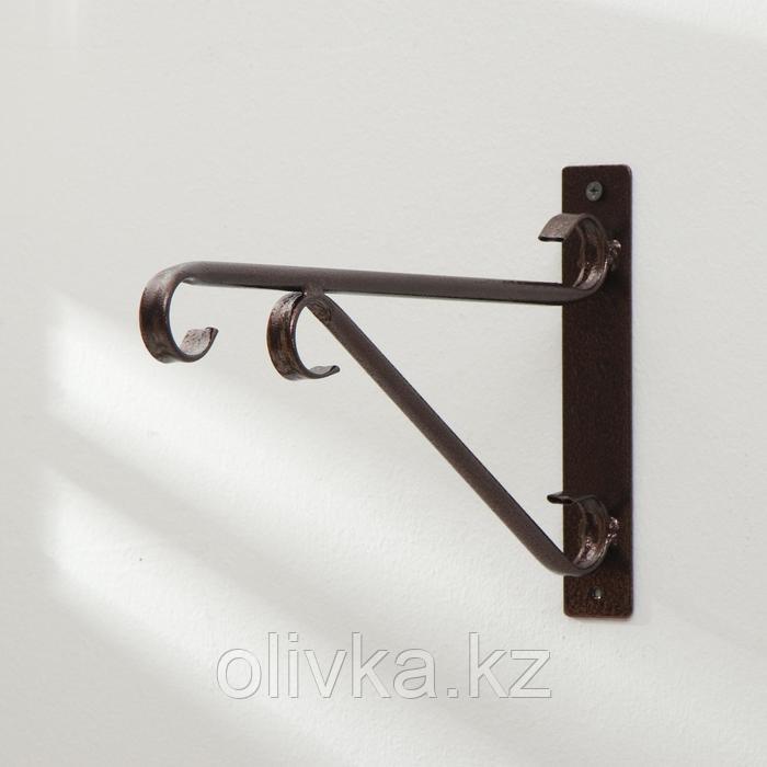 Кронштейн для кашпо, 30 см, металл, «Трубка»