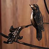Кронштейн для кашпо, кованый, 30 см, металл, чёрный, «Синичка», фото 4