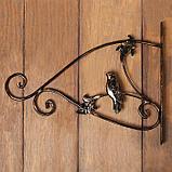Кронштейн для кашпо, кованый, 30 см, металл, чёрный, «Синичка», фото 5