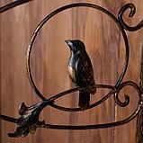 Кронштейн для кашпо, кованый, 30 см, металл, чёрный, «Птичка», фото 4