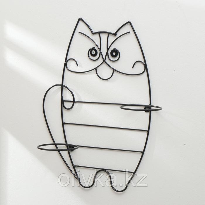 Подвес для кашпо настенный «Кот», на 2 кашпо, d = 16 см