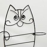 Подвес для кашпо настенный «Кот», на 2 кашпо, d = 16 см, фото 2
