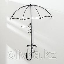 Подвес для кашпо настенный «Зонт», на 2 кашпо, d = 16 см