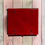 Ящик почтовый «Письмо», горизонтальный, без замка (с петлёй), бордовый, фото 5