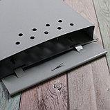 Ящик почтовый «Письмо», вертикальный, с замком-щеколдой, серый, фото 4