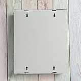 Ящик почтовый «Письмо», вертикальный, с замком-щеколдой, серый, фото 6