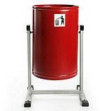 Урна для мусора «Уралочка-Бюджет», 21 л, цвет красная шагрень, фото 2