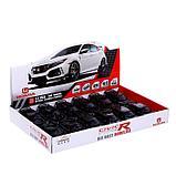 Машина металлическая Honda Civic, открываются двери, капот, багажник, световые и звуковые эффекты, инерция,, фото 5