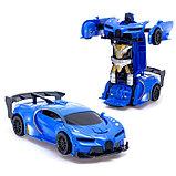 """Робот радиоуправляемый """"Спорткар"""", трансформируется, работает от батареек, цвета МИКС, фото 3"""