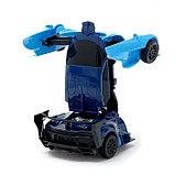 """Робот радиоуправляемый """"Спорткар"""", трансформируется, работает от батареек, цвета МИКС, фото 8"""