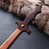 """Сувенирное деревянное оружие """"Набор воина"""", щит 36 х 27 см, меч 38 х 7 см, фото 2"""