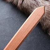 """Сувенирное деревянное оружие """"Набор воина"""", щит 36 х 27 см, меч 38 х 7 см, фото 3"""