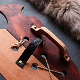 """Сувенирное деревянное оружие """"Набор воина"""", щит 36 х 27 см, меч 38 х 7 см, фото 5"""