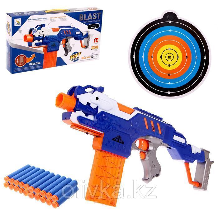 Автоматический бластер «Воин света», с мишенью, стреляет мягкими пулями, работает от батареек