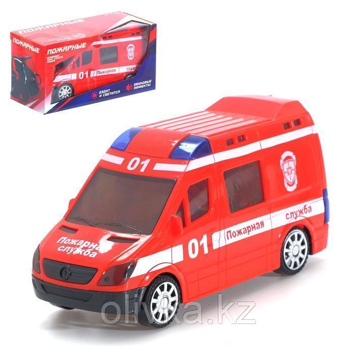 Машина «Пожарные», световые и звуковые эффекты, русская озвучка, работает от батареек
