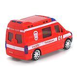 Машина «Пожарные», световые и звуковые эффекты, русская озвучка, работает от батареек, фото 3