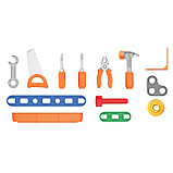 Набор инструментов в чемодане, с конструктором из 47 элементов, фото 2