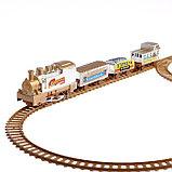 Железная дорога «Скорый поезд», работает от батареек, фото 2