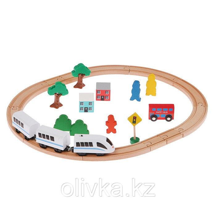 """Железная дорога """"Город"""", поезд на батарейках"""