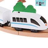 """Железная дорога """"Город"""", поезд на батарейках, фото 2"""