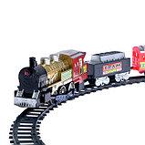 Железная дорога «Скорый поезд», радиоуправляемая, работает от батареек, световые и звуковые эффекты, фото 3