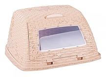 Хлебница Плетенка М4903, светло-коричневый