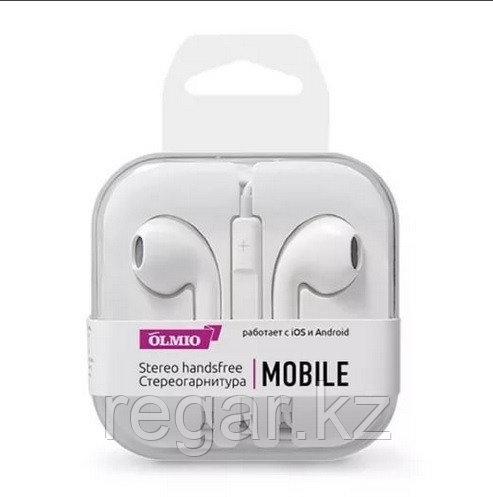 Наушники-вкладыши проводные OLMIO Mobile белый