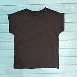 Базовая однотонная футболка, фото 2