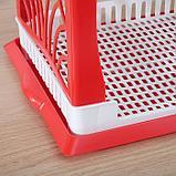 Сушилка для посуды 2-х ярусная Альтернатива «Мечта хозяйки», 48,5×30×30 см цвет МИКС, фото 2