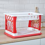 Сушилка для посуды 2-х ярусная Альтернатива «Мечта хозяйки», 48,5×30×30 см цвет МИКС, фото 5