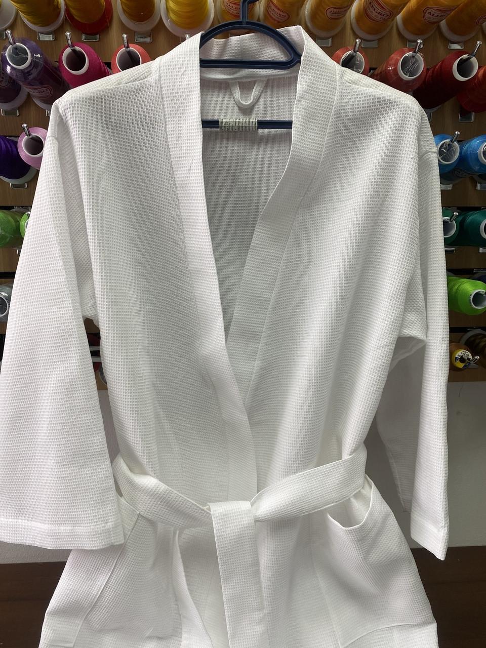 Халат вафельный кимоно