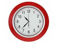 Настенные часы ободок красный