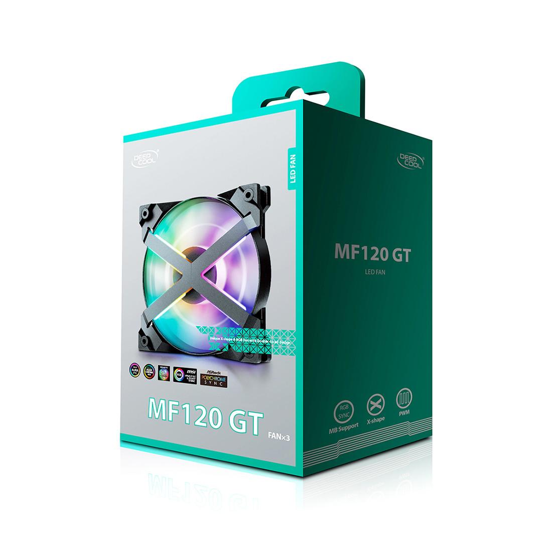 Комплект кулеров для компьютерного корпуса Deepcool MF 120GT - 3 в1