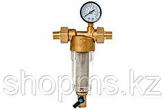 """Фильтр Гейзер-Бастион 112 1/2"""" (с манометром для холодной воды, d60) 32670"""